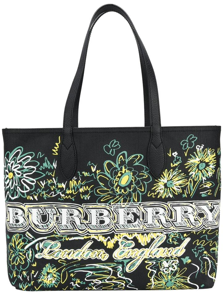 861ec4090a68 Burberry Medium Reversible Doodle Canvas Tote - Tradesy