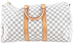 Louis Vuitton white grey Travel Bag