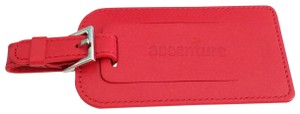 Tiffany & Co. Tiffany & Co. Accenture Red Leather Luggage Tag Travel Tag name