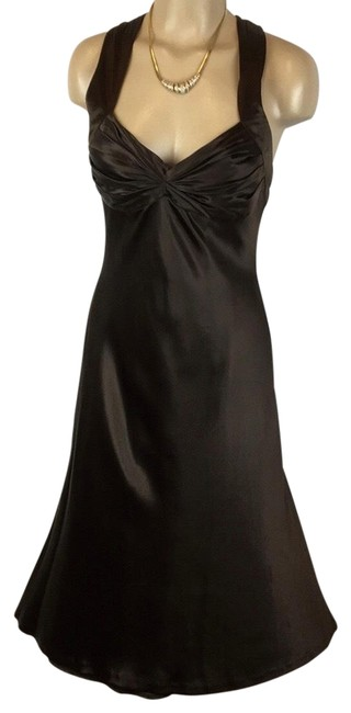 Item - Brown Silk Short Night Out Dress Size 10 (M)