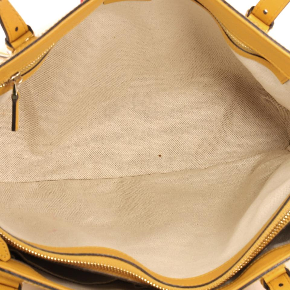 0ba189d25b6dd5 Gucci Nice Patent Microguccissima Small Yellow Leather Tote - Tradesy