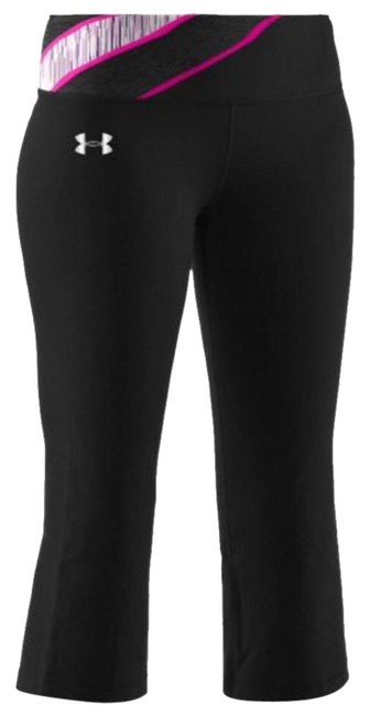 Item - Black and Pink Ua Perfect Shape Capri Activewear Bottoms Size 6 (S, 28)