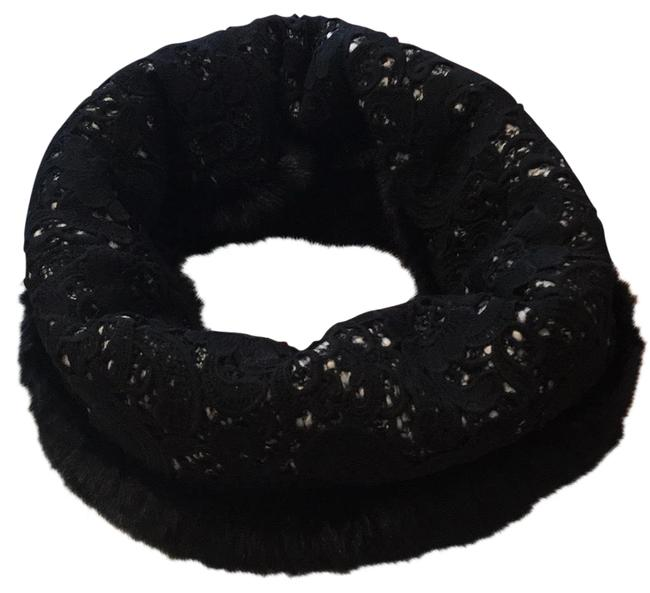 Item - Black Multi Reversible Fur and Lace Collar Scarf/Wrap