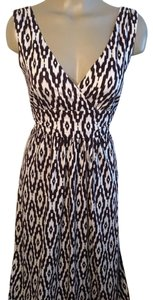 Brown & White Maxi Dress by Ann Taylor LOFT