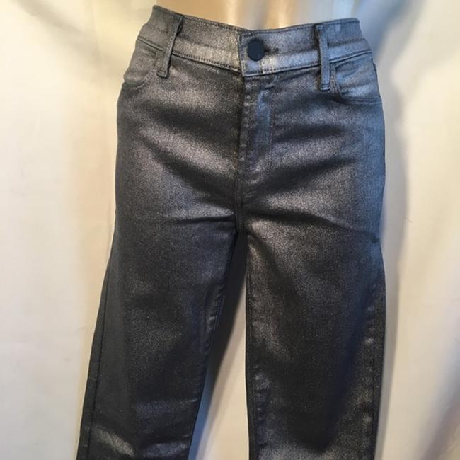J Brand Gray Coated Stacked Midnight Metal Skinny Jeans Size 28 (4, S) J Brand Gray Coated Stacked Midnight Metal Skinny Jeans Size 28 (4, S) Image 5