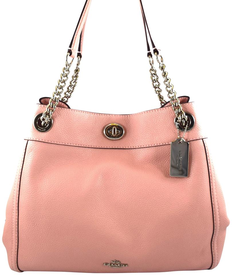 445be236d Coach Turnlock Edie Pebbled 36855 Peony Leather Tote - Tradesy