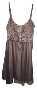 C. Luce Grey Lace Bodice Dress