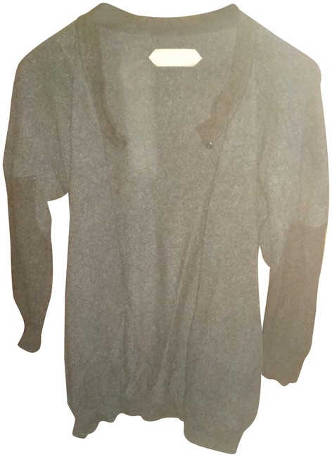 Item - Charcoal L Cashmere Open Front Sweater Cardigan Size 14 (L)