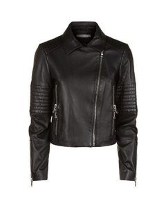 J Brand Moto Quilted Biker Leather Jacket