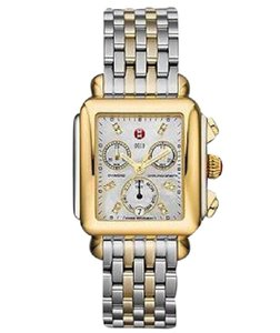 Michele Deco XL Chronograph Diamond Two-Tone Stainless Steel Watch