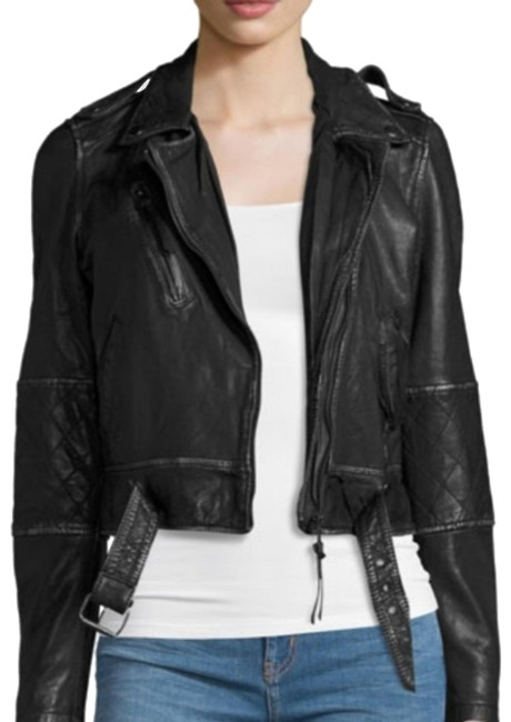 Nicole Miller Leather Jacket Image 0