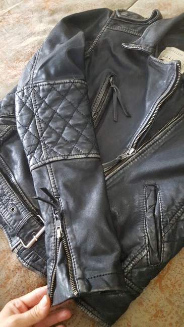 Nicole Miller Leather Jacket Image 4
