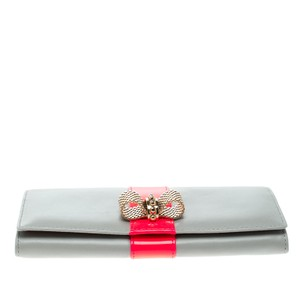 Christian Louboutin Christian Louboutin Grey Leather Sweet Charity Continental Wallet