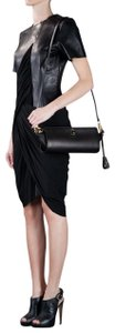 Alexander Wang Leather Shoulder Pelican Black Clutch