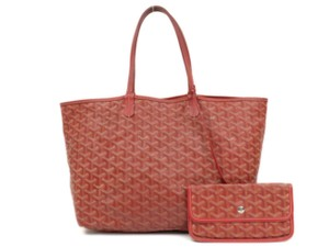 Goyard Neverfull Fidji St Louis Chevron Tote in Red