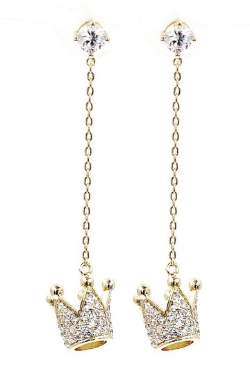 Preload https://img-static.tradesy.com/item/23626405/gold-pendant-crown-small-crystal-earrings-0-0-540-540.jpg