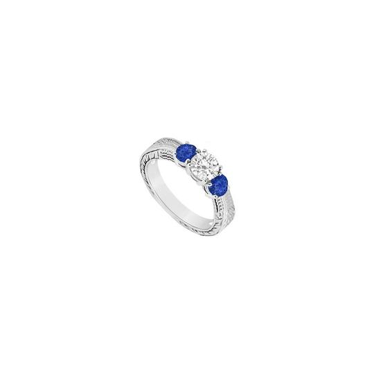 Preload https://img-static.tradesy.com/item/23626444/white-blue-three-stone-created-sapphire-and-cubic-zirconia-sterling-silver-ring-0-0-540-540.jpg