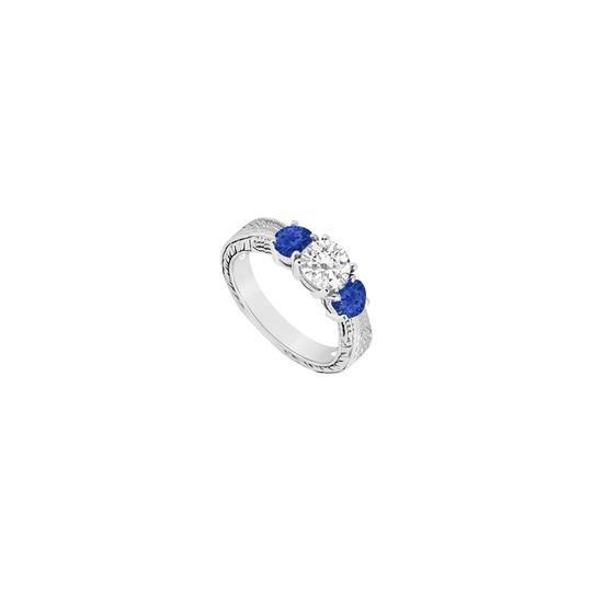 Preload https://img-static.tradesy.com/item/23626497/white-blue-three-stone-created-sapphire-and-cubic-zirconia-sterling-silver-ring-0-0-540-540.jpg