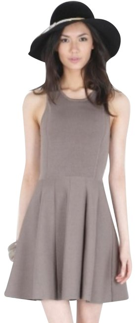 Preload https://img-static.tradesy.com/item/23626515/parker-tan-knit-fit-and-flare-cut-short-cocktail-dress-size-2-xs-0-1-650-650.jpg