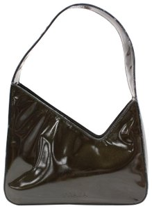 Prada Mint Vintage Edgy And Chic Style Asymmetrical Top Dust Shoulder Bag