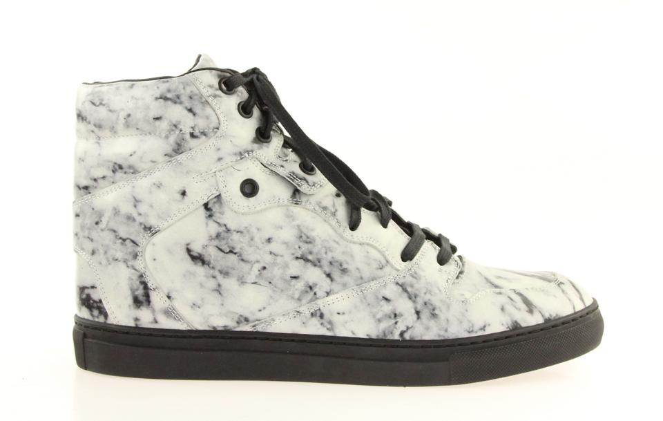 4621f53c1f05 Balenciaga White Marble High Top Sneakers Size EU 40 (Approx. US 10 ...
