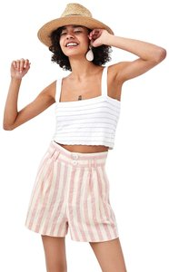 Zara Bermuda Asos Skort Pink And White Stripe