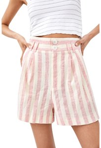Zara Asos Bermuda Shorts Pink And White Stripe