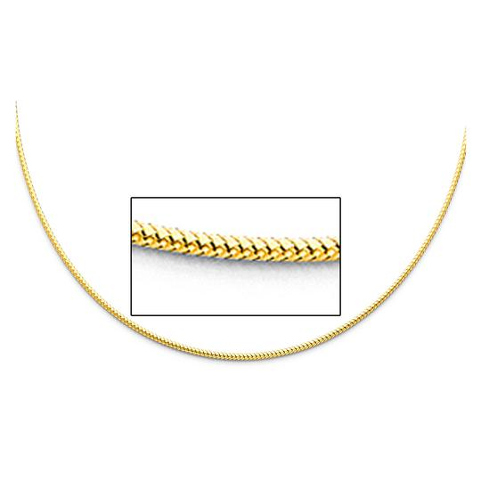TD Collections 14K Yellow Gold 1.5mm Sparkle Omega Necklace - 17