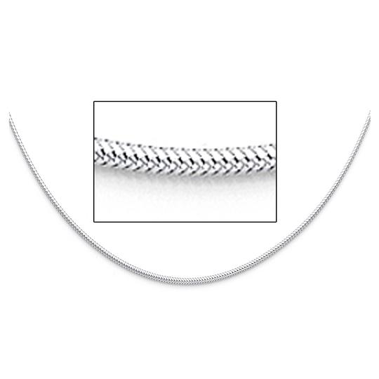 TD Collections 14K White Gold 1.5mm Sparkle Omega Necklace - 17