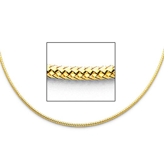 TD Collections 14K Yellow Gold 2mm Sparkle Omega Necklace - 17