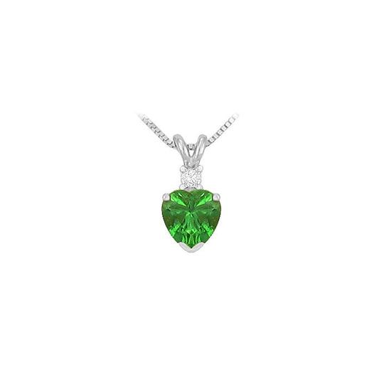 Preload https://img-static.tradesy.com/item/23626659/green-cubic-zirconia-and-created-emerald-solitaire-pendant-925-sterling-silv-necklace-0-0-540-540.jpg