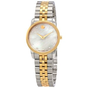 Movado MOVADO Museum Classic White Mother Of Pearl Dial Ladies Watch 0607077