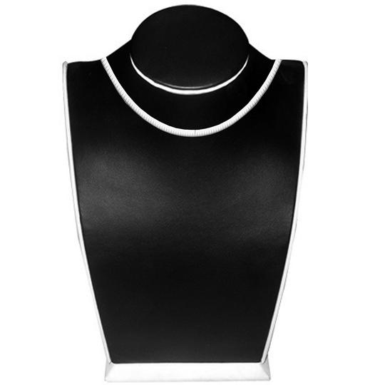 TD Collections 14K White Gold 5mm Reversible Omega Necklace - 16