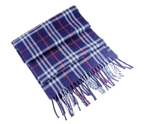 Burberry BURBERRY Heritage Scarf in 100% Lambswool Navy Check