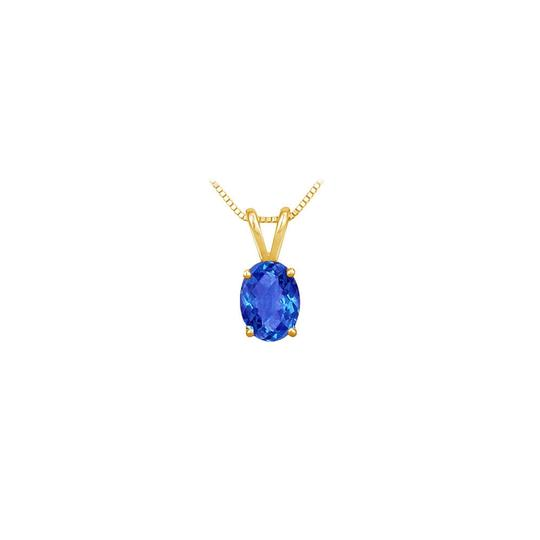 Preload https://img-static.tradesy.com/item/23626838/blue-created-sapphire-solitaire-pendant-yellow-gold-vermeil-100-ct-tgw-necklace-0-0-540-540.jpg