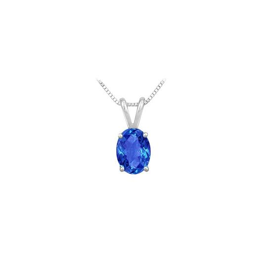Preload https://img-static.tradesy.com/item/23626845/blue-created-sapphire-solitaire-pendant-925-sterling-silver-100-ct-tgw-necklace-0-0-540-540.jpg