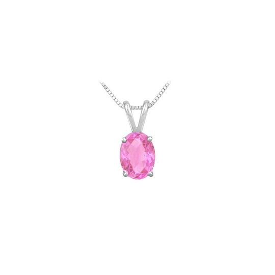 Preload https://img-static.tradesy.com/item/23626874/pink-created-sapphire-solitaire-pendant-925-sterling-silver-100-ct-tg-necklace-0-0-540-540.jpg