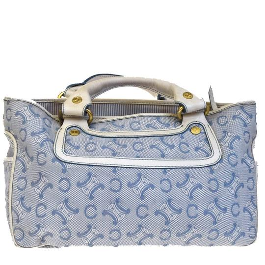Céline Made In China Tote in Blue Image 2