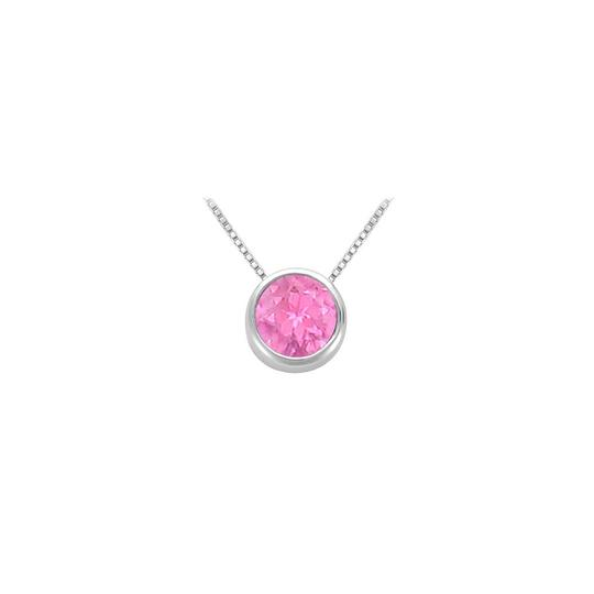 Preload https://img-static.tradesy.com/item/23626884/pink-created-sapphire-bezel-set-solitaire-pendant-925-sterling-silver-necklace-0-0-540-540.jpg