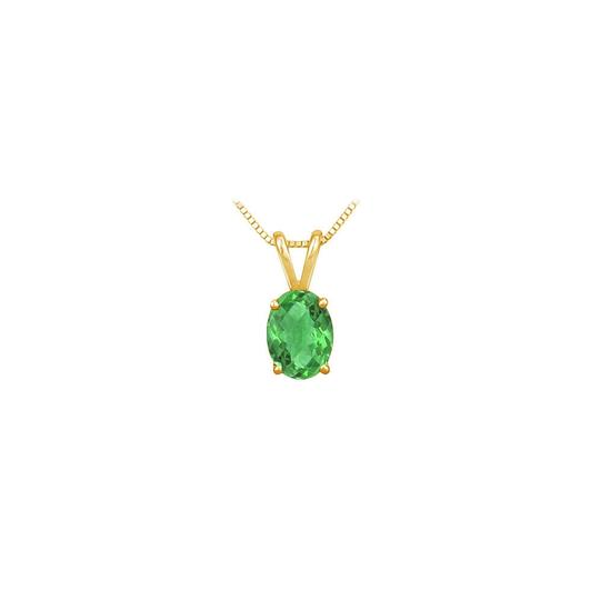 Preload https://img-static.tradesy.com/item/23626889/green-created-emerald-solitaire-pendant-yellow-gold-vermeil-100-ct-tgw-necklace-0-0-540-540.jpg