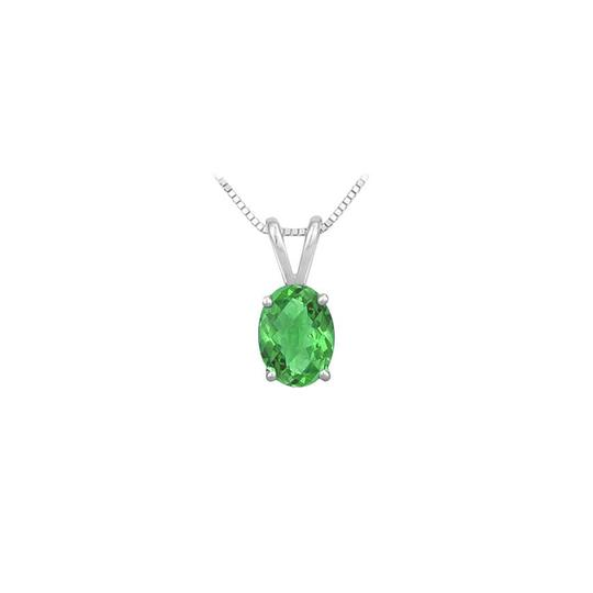 Preload https://img-static.tradesy.com/item/23626894/green-created-emerald-solitaire-pendant-925-sterling-silver-100-ct-tgw-necklace-0-0-540-540.jpg