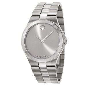 Movado Movado Men's Silver Dial Stainless Steel Watch 0606556