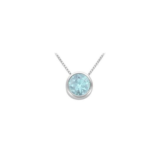 Preload https://img-static.tradesy.com/item/23626900/blue-created-aquamarine-bezel-set-solitaire-pendant-925-sterling-silver-10-necklace-0-0-540-540.jpg