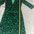 Diane von Furstenberg short dress Black and green Dvf Wrap Wrapdress Vintage on Tradesy Image 10