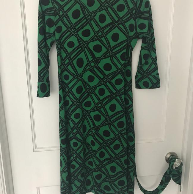 Diane von Furstenberg short dress Black and green Dvf Wrap Wrapdress Vintage on Tradesy Image 4