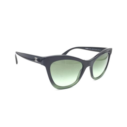 Chanel Black Green Cat Eye Gradient 5350 1558/S2 Sunglasses Image 1