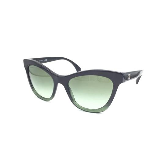 Chanel Black Green Cat Eye Gradient 5350 1558/S2 Sunglasses Image 2
