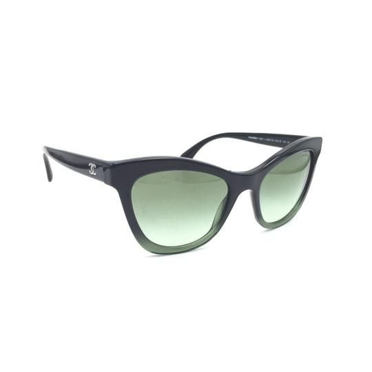 Chanel Black Green Cat Eye Gradient 5350 1558/S2 Sunglasses Image 7