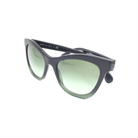 Chanel Black Green Cat Eye Gradient 5350 1558/S2 Sunglasses Image 8