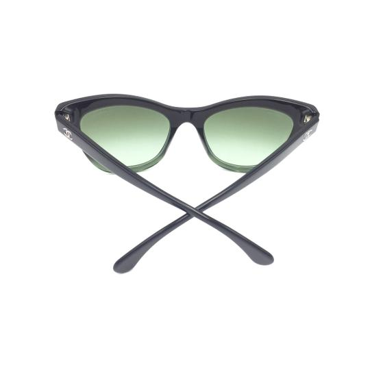 Chanel Black Green Cat Eye Gradient 5350 1558/S2 Sunglasses Image 9